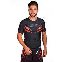 Комплект компрессионный мужской (футболка с коротким рукавом и шорты) Venum SHARP (PL, M-XL(RUS 46-52)) Черный-красный M 165-170 PZ-CO-5804-CO-5805_1
