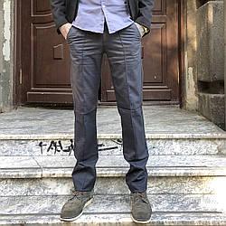 7711-H41 Prodigy брюки мужские темно-серые осенние стрейчевые (30-35, 7 ед.)