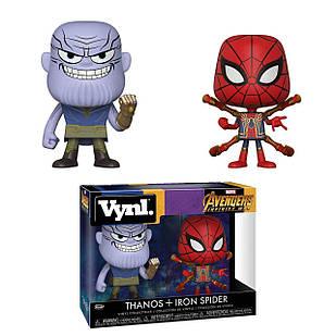 ФигуркиFunko Vynl Танос иЖелезный Паук Thanos and Iron Spider 10cм IT 186.29.01