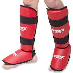 Защита для голени и стопы кожвинил Boxer (S-XL) PZ-2002