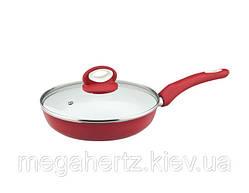 Сковорода с крышкой Vinzer EcoCeramic 24см 89464