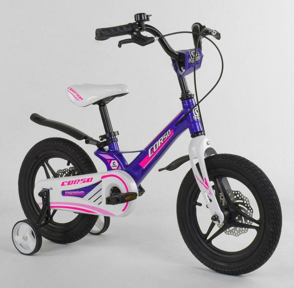 """Детский велосипед """"Corso"""" MG-77218 14 дюймов, магниевая рама, дисковые тормоза"""