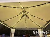 Павильон шатер Ротанговый 3x4 м Черно-серый с Диодным освещением, фото 3