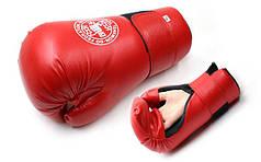 Перчатки для тхэквондо ITF (PU, XL, красный) PZ-MA-4767-R-XL
