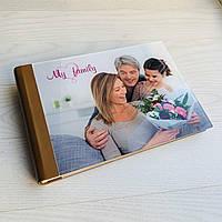 Фотоальбом с индивидуальной акриловой обложкой формата А5 с блоком из белого картона