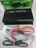 Преобразователь напряжения (инвертор) UKC RCP-1000Вт DC/AC 12В-220В, выход USB 5В. Повышенная надежность.