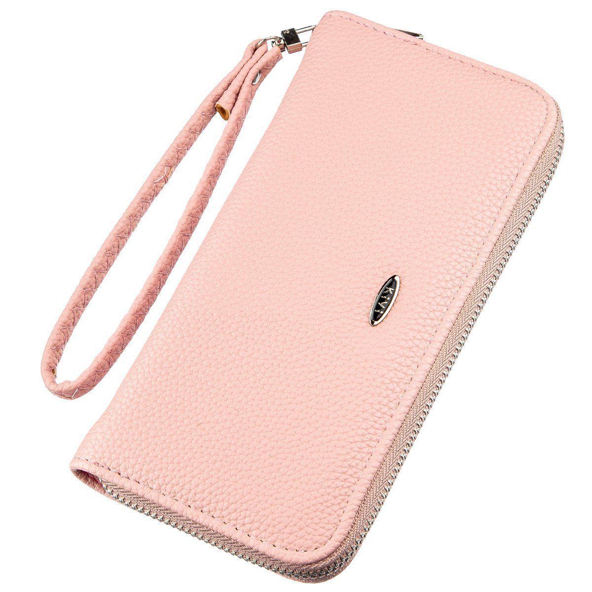 Кошелек Женский На Одну Молнию Из Экокожи Флотар Kivi 19016 Розовый, Розовый