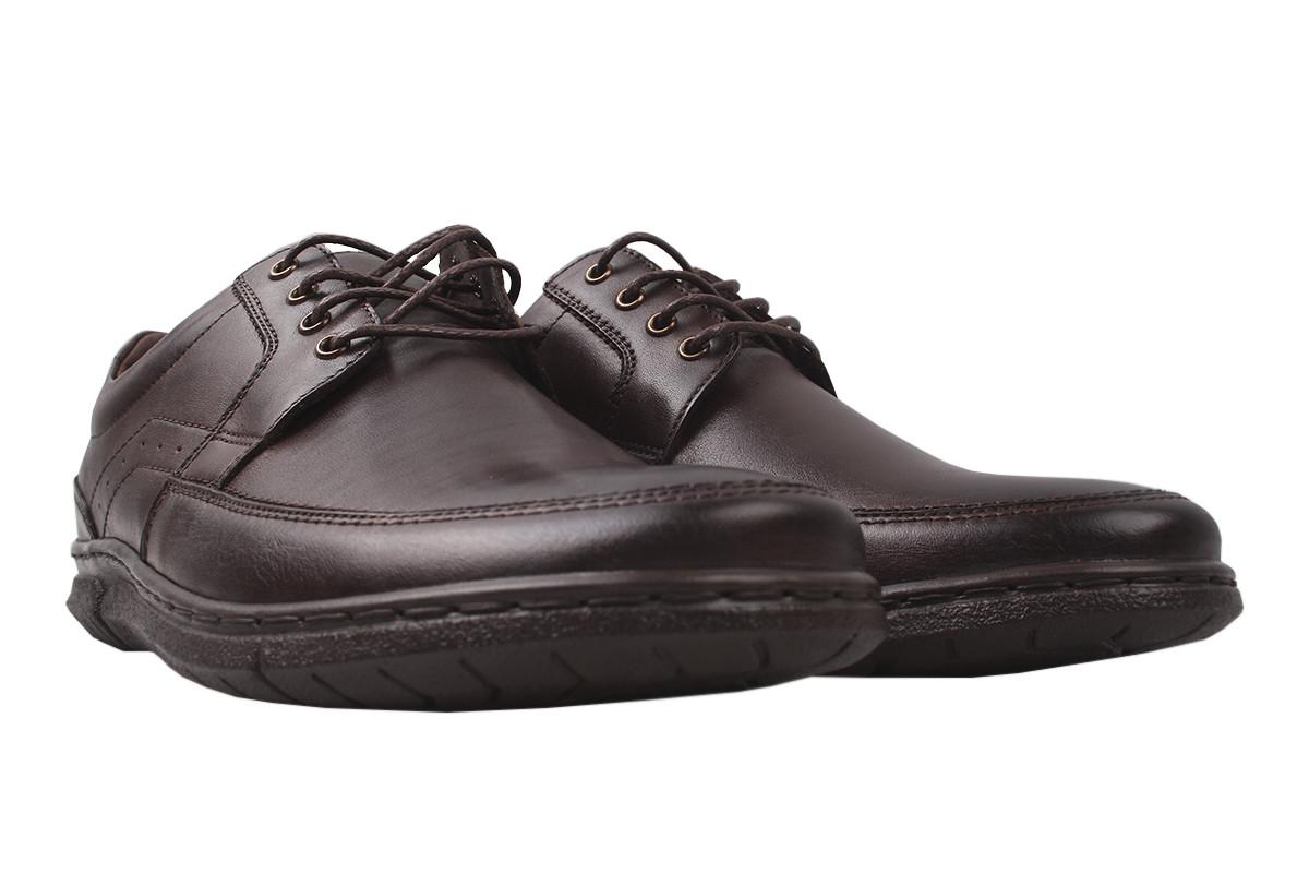 Туфлі чоловічі Pan натуральна шкіра, колір кабір, розмір 40-45, Польща