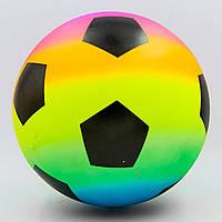 Мяч резиновый Футбол (PVC, вес-250г, 16-25см (6-10in), радужный) PZ-FB-0387