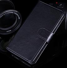 Шкіряний чохол-книжка для Lenovo A1900 чорний