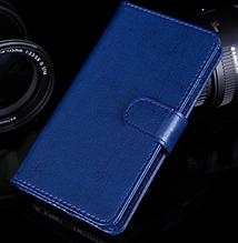 Кожаный чехол-книжка для Lenovo A1900 синий