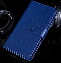 Шкіряний чохол-книжка для Lenovo A1900 синій