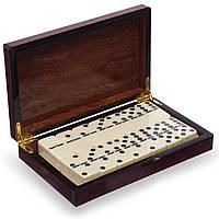 Домино настольная игра в MDF коробке (кости-пласт, h-см, кор. 20,5x12,5x4см) PZ-5010-H
