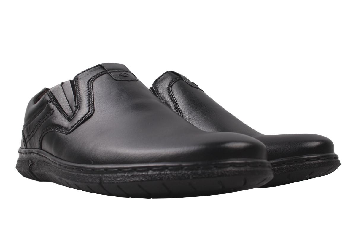 Туфлі чоловічі Pan натуральна шкіра, колір чорний, розмір 40-45, Польща