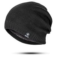 Модная шапка стильная: Черная, мужская/женская