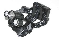 Фонарь налобный фонарик велосипедный LL6633-T6+2Q5