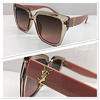 Женские солнцезащитные очки стильная классика пудровые, фото 1