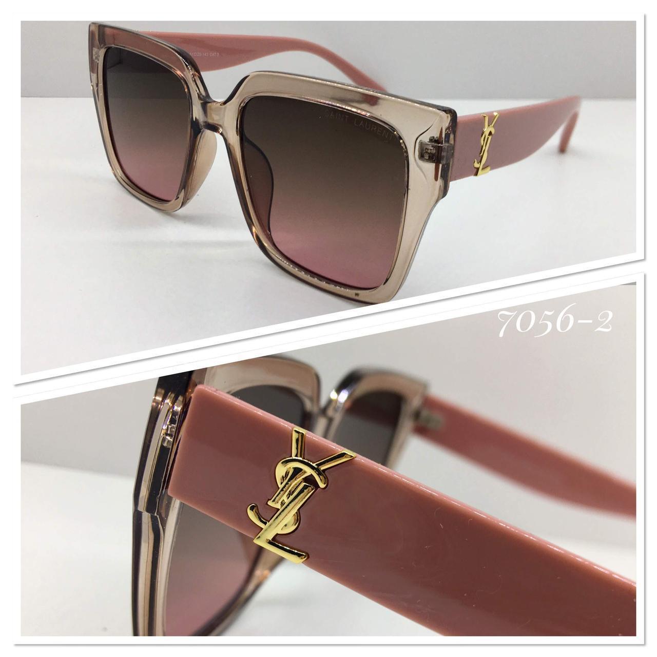 Женские солнцезащитные очки стильная классика пудровые