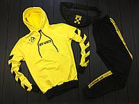 Желтый Мужской спортивный костюм офф вайт/Off-white/Vlone (4 стрелки,) с лампасами/полосками, реплика, фото 1