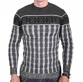 Мужской свитер Msatiff k0218/2 Серый XL