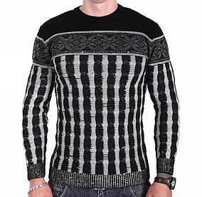 Мужской свитер Msatiff k0218/3 Черный XL