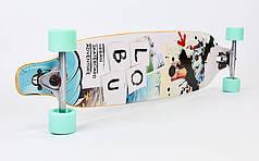 Лонгборд Бордволкинг (скейтборд в сборе) (колесо-PU, деки 104x22,5см, АВЕС-7, цвета в асортименте) PZ-LY-5362