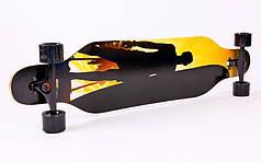 Лонгборд Бордволкинг (скейтборд в сборе) (колесо-PU, деки 100x25см, АВЕС-7, цвета в асортименте) PZ-SK-902