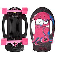 Скейтборд пластиковый FISH Nemo 17in (PC, ABEC-7, колесо PU 60x45мм 82А, черный-красный)