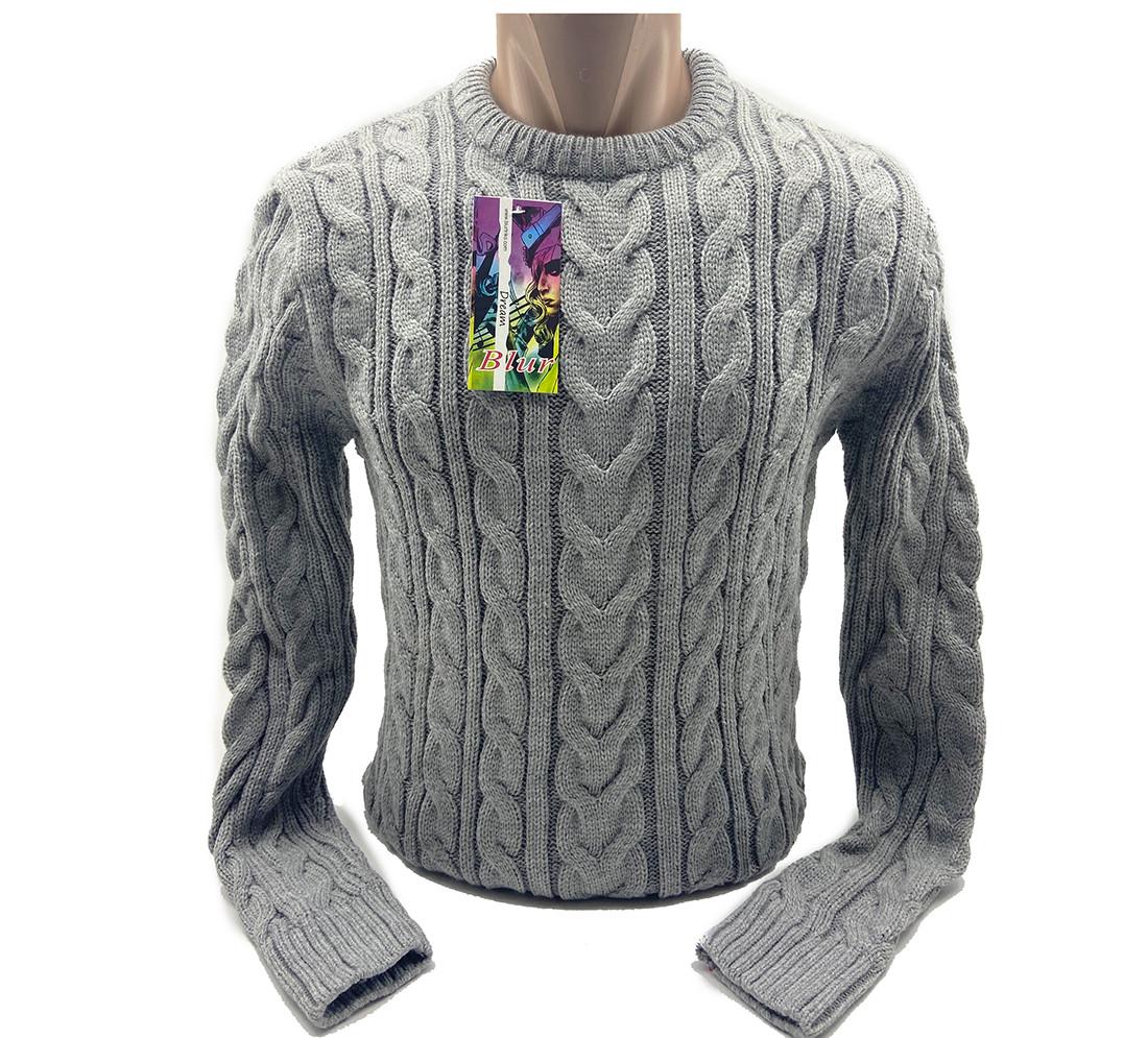 Мужской свитер Blur Турция k0219/5 Серый M