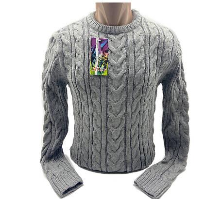 Мужской свитер Blur Турция k0219/5 Серый M, фото 2