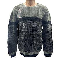 Мужской свитер Wild OBOY Турция wo1058/1 Серый с черным S-M