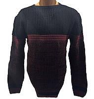 Мужской свитер Wild OBOY Турция wo1058/2 Черный с бордовым S-M