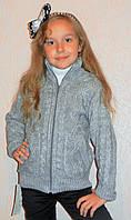 Кофта детская модная для девочки, теплая
