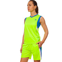Форма баскетбольная женская Lingo Sport (полиэстер, размер L-2XL(44-50)) Салатовый-синий L (44-46) PZ-LD-8295W_1
