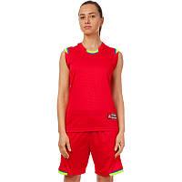 Форма баскетбольная женская Lingo Sport Reward (полиэстер, размер L-2XL(44-50)) Красный-салатовый L (44-46) PZ-LD-8096W_1