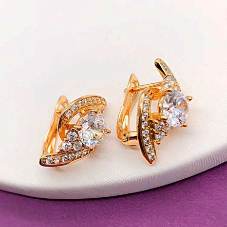 Серьги Xuping Jewelry Саманта белые медицинское золото позолота 18К английский замок А/В 1-0095