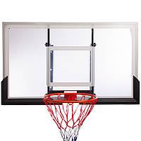 Щит баскетбольный с кольцом и сеткой (щит-PC, 136x80см, кольцо (16мм) d-45см, сетка NY) упакован в 2ящ. PZ-S027B