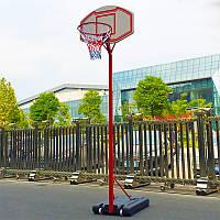 Стойка баскетбольная со щитом (мобильная) MEDIUM (щит-PE 90x60х17см, кольцо-сталь (16мм) d-38см, регул.высота 210-260см) PZ-PE003