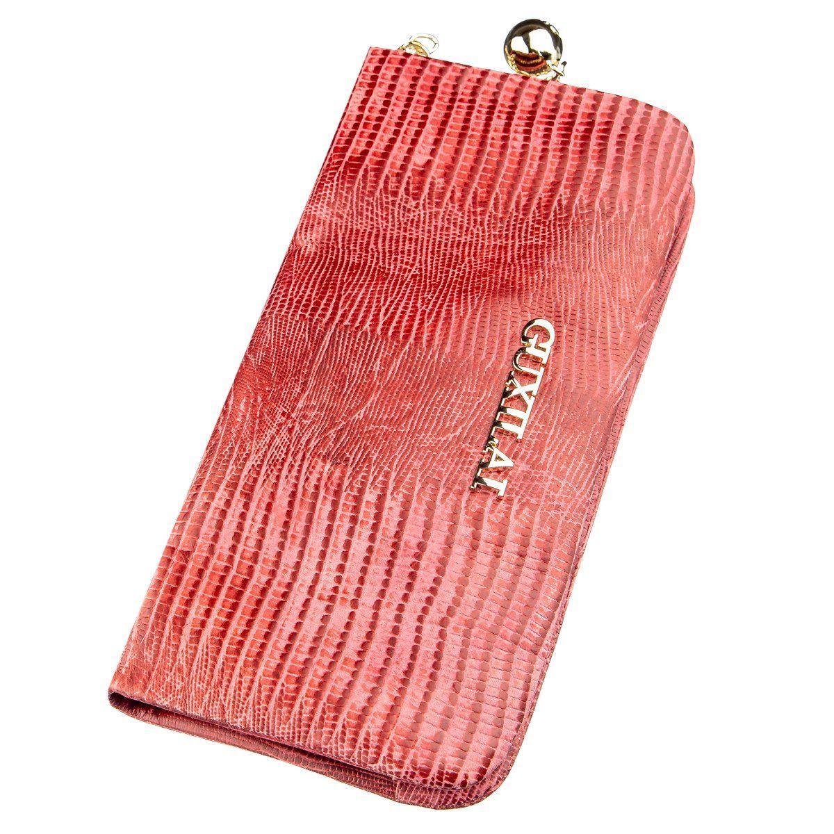Кошелек женский кожаный с тиснением Guxilai 18967 Красный