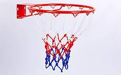 Сетка баскетбольная (полипропилен, 12 петель, цвет бело-красно-синий, в компл. 2 шт.) PZ-C-5642