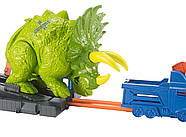 Трек Хот Вилс Разгневанный Трицератопс Hot Wheels Smashin Triceratops Оригинал от Mattel, фото 3
