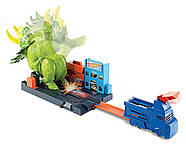 Трек Хот Вилс Разгневанный Трицератопс Hot Wheels Smashin Triceratops Оригинал от Mattel, фото 4