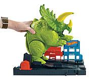 Трек Хот Вилс Разгневанный Трицератопс Hot Wheels Smashin Triceratops Оригинал от Mattel, фото 5