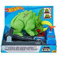 Трек Хот Вилс Разгневанный Трицератопс Hot Wheels Smashin Triceratops Оригинал от Mattel, фото 8