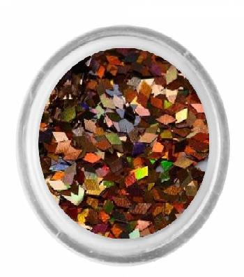 Ромбики для декора 2 мм. коричневий 1,5 г.