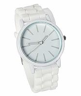 Женские часы GENEVA Женева с силиконовым ремешком белые,  часы женские бренд