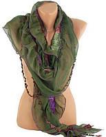 Женский темно-зеленый шарф TRAUM