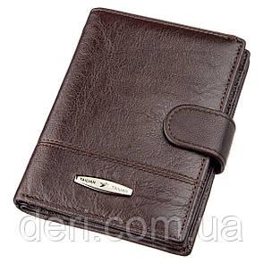 Кошелек мужской кожаный со встроенной обложкой для паспорта TAILIAN 18993 Темно-коричневый, Коричневый, фото 2