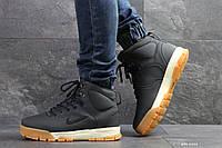 Мужские зимние ботинки на меху в стиле Nike, тёмнo-cиние 42 (27 см)