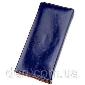 Кошелек женский конверт из гладкой экокожи синий, фото 2